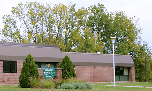 The exterior building of the North Rose-Wolcott District office.
