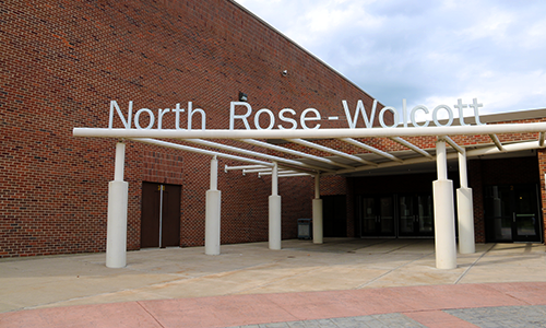 North Rose-Wolcott sign.