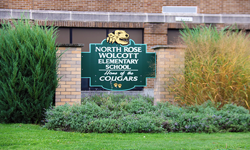 North Rose-Wolcott Elementary School Home of the Cougars Building Sign