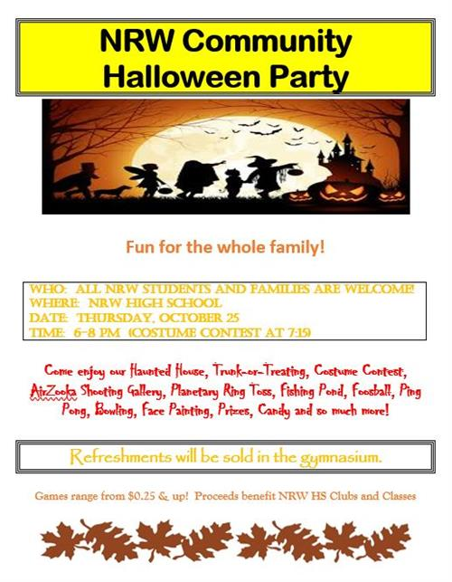 NRW community halloween party. Fun for the whole family!