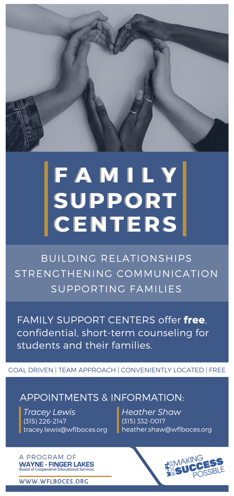 Family Support Centers brochure page one
