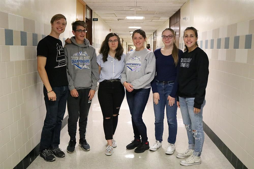 Students selected for WCMEA all-county pose for a photo