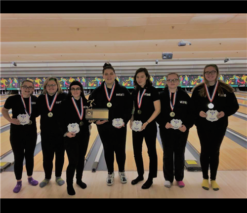 Girls' Bowling Team Sectional Champions.
