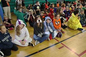 NRWE students practice shelter-in-place drill at Halloween parade